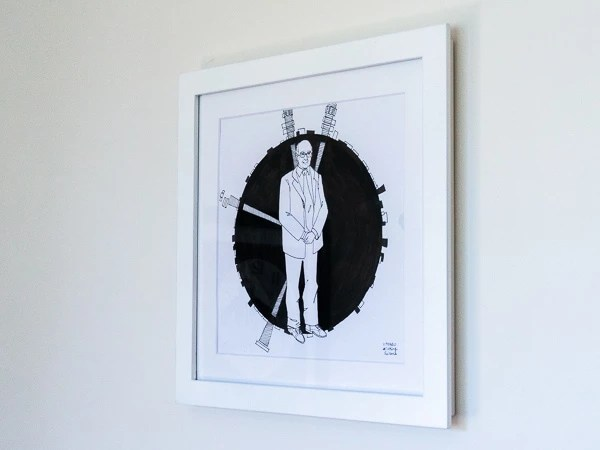 Peter Higgs Original Artwork - White Frame