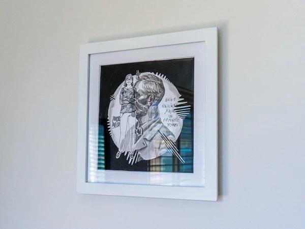Donna Strickland Original Artwork - white frame