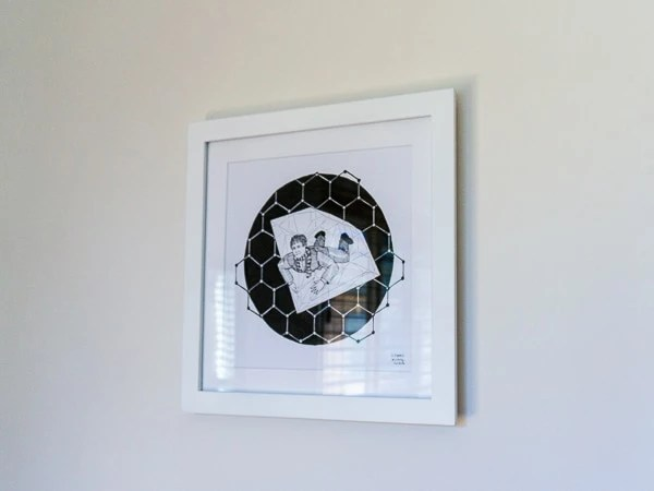 Andre Geim Original Artwork - White Frame