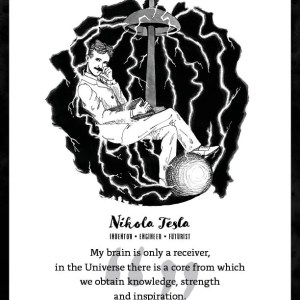 Nikola Tesla Limited Edition Art Print