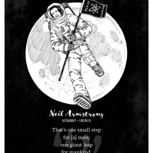 Neil Armstrong limited edition print