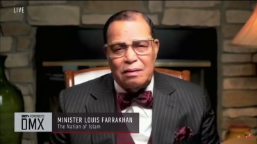 Minister Louis Farrakhan speaks at DMX Funeral