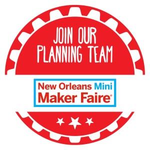 New Orleans Mini Maker Faire Volunteer Graphic