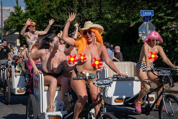 world naked bike ride day new orleans