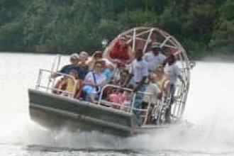 New Orleans Airboat Sliding on the water