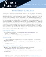 Fourth Genre 2020 Steinberg Essay Contest flier