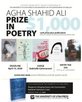 2020 Agha Shahid Ali Prize in Poetry