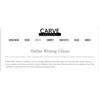 Carve Online Writing Classes