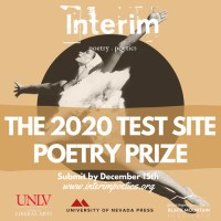 Interim 2020 Test Site Poetry Prize banner