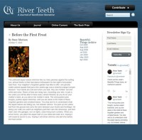 Screenshot of River Teeth's online column Beautiful Things