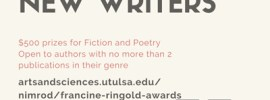 Screenshot of Nimrod's flier for the 2021 Francine Ringold Awards for New Writers