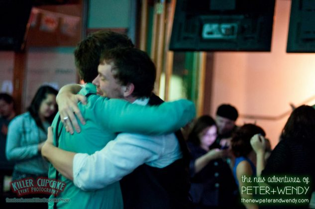 Bro hug - Kyle Walters and Shawn deLoache