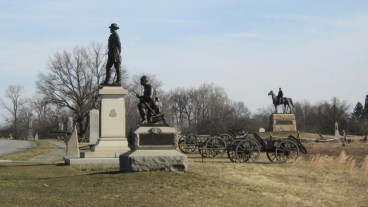 But parts of the Battlefield of Gettysburg are cluttered with statues, put up twenty or fifty years later by the survivors