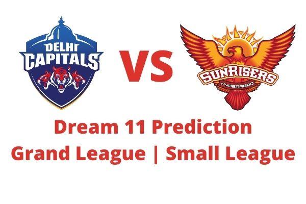 dc vs srh dream11 prediction