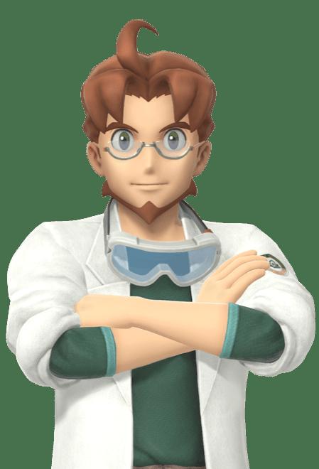professor mirror crossing his arms new Pokémon snap