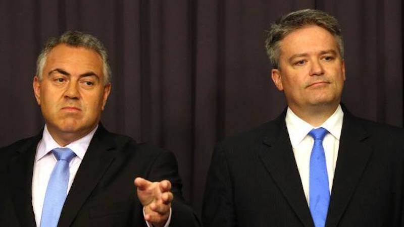 Joe Hockey, Mathias Cormann, corruption