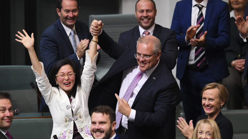 Gladys Liu in Parliament, corruption, Scott Morrison