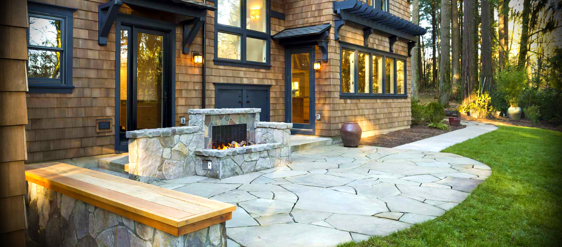 Fire Pits and Outdoor Fireplaces | Newport Ave Landscaping on Fireplace In Yard id=25353