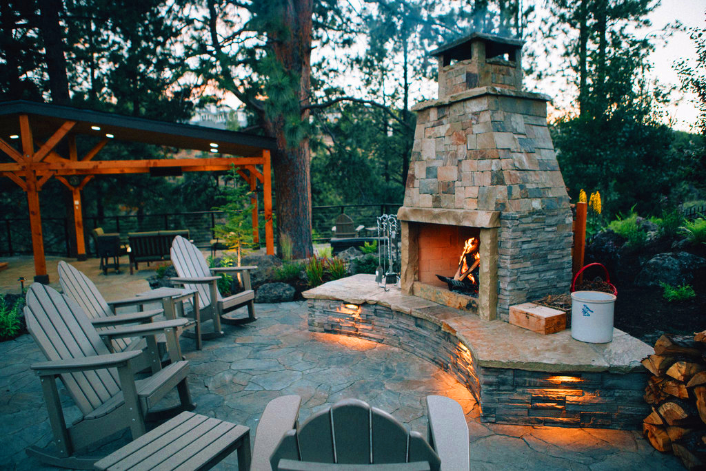 Fire Pits and Outdoor Fireplaces | Newport Ave Landscaping on Fireplace In Yard id=58149