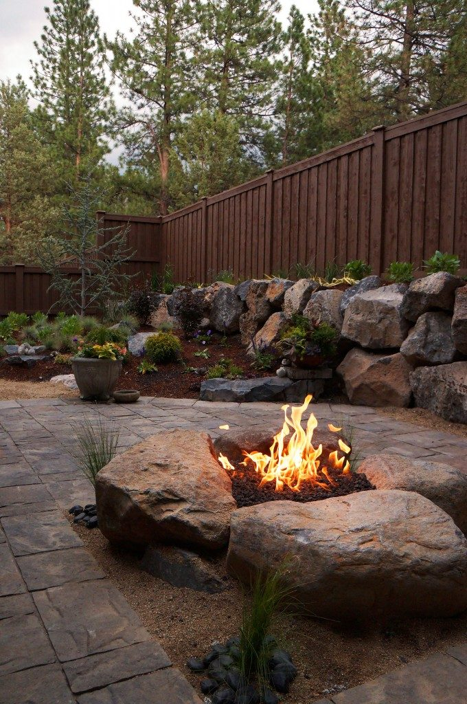 Paver Patio and Gas Fire Pit Install | Newport Ave Landscaping on Pavers Patio With Fire Pit id=88685