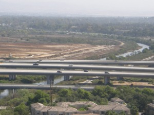 San Diego Creek flows to Upper Newport Bay