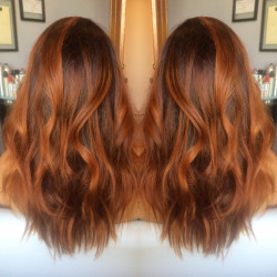 Newport Beach Hair Stylist Copper Red Rust Balayage Highlights 3 by Emily Cain