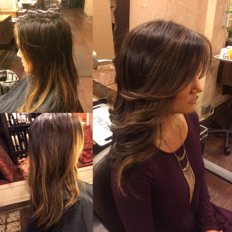 Newport Beach Hair Stylist Style Change From Blonde Ombre Highlights