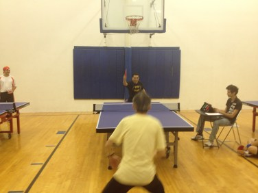 Ping pong match on Newport Beach