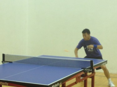 Table tennis backhand in Newport Beach