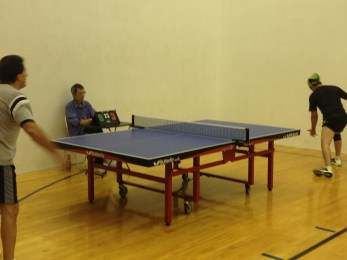 Ivan and John match - 5 sets in Newport Beach table tennis club