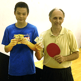 Newport Beach table tennis Equal Challenge Champion