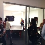 Newport Beach table tennis player in Corporate Office Party