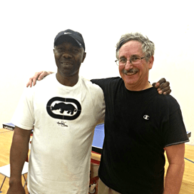 Ken Okey and Tim Stephens after playing the Equal Challente Tournament