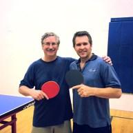 Newport Beach Ping Pong   Tim Stephens and Tony Kovacs