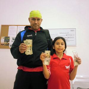 Rudy Miranda and Keyla Arellano playing the Equal Challenge in Newport Beach