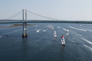 Leg 7 start Newport to Lisbon highlights