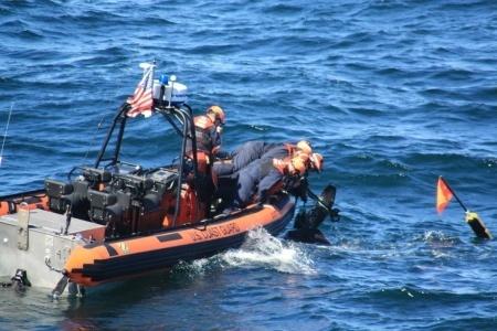 Coast Guard Leather back turtle rescue