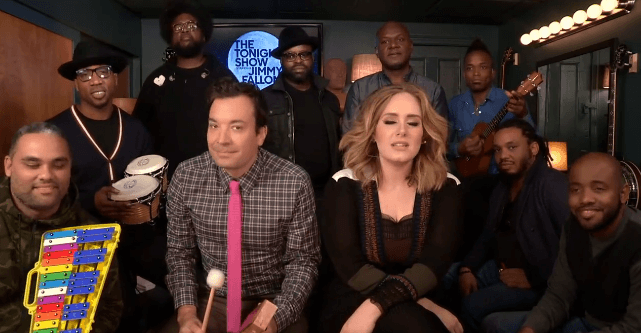 Jimmy Fallon Adele Roots Hello