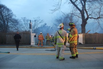 Firefighters Drexel Estate Fire Newport RI