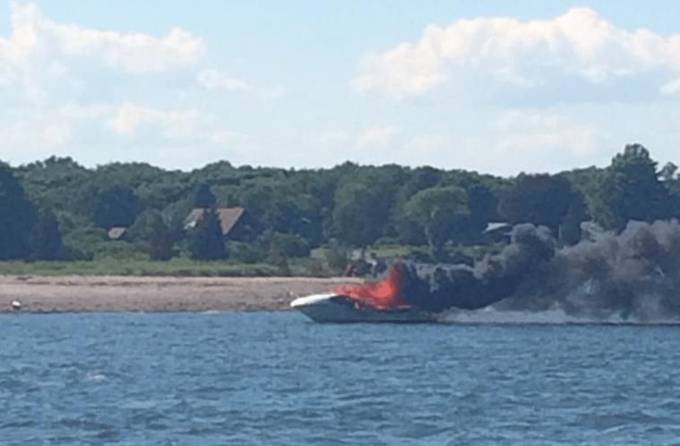 Boat Fire Rhode Island