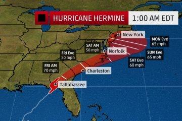 hermine hurricane Newport RI