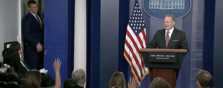 Rob Gronkowski White House Press Briefing Sean Spicer