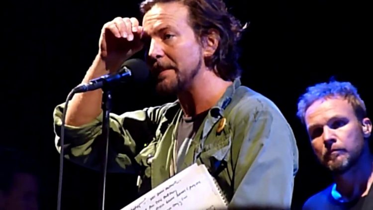 Pearl jam North American Tour Cancelled