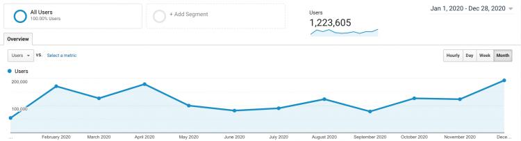 Newport Buzz Web Traffic 2020