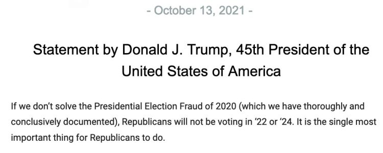 Trump Republicans won't vote