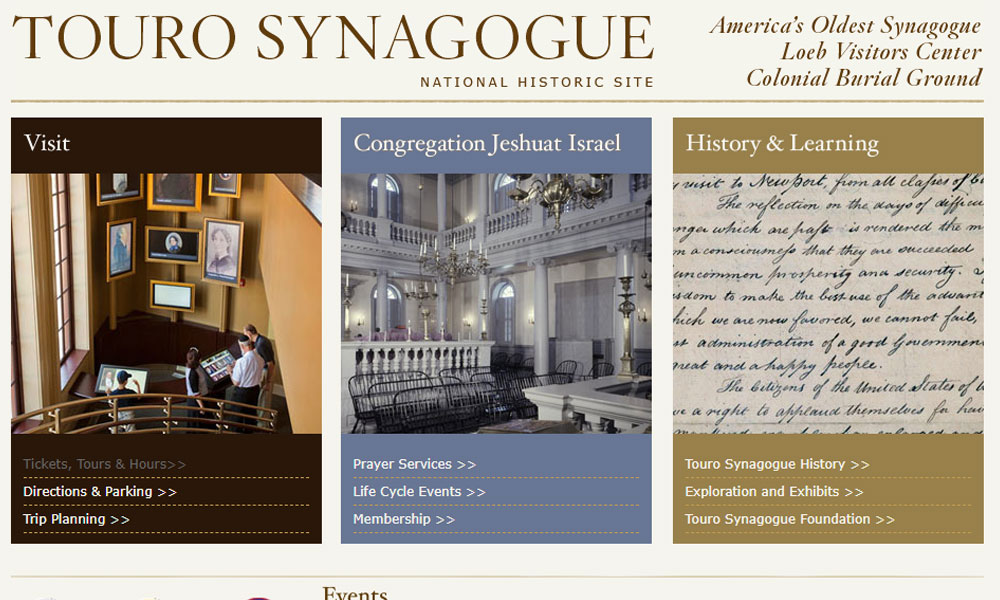 Touro Synagogue   Newport Inns of Rhode Island