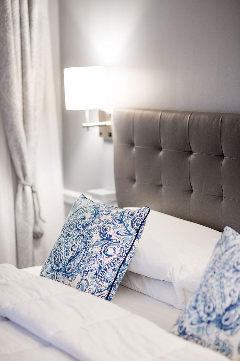 The Artful Lodger pillows and mattress
