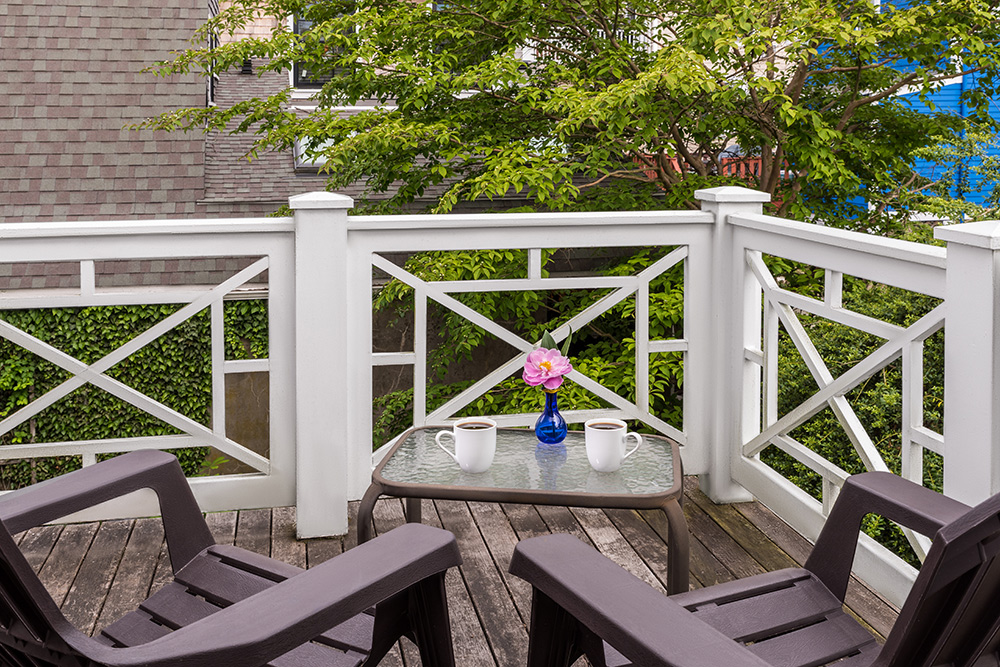 Samuel Durfee House-Ida Lewis Room Private Deck | Newport Inns of Rhode Island