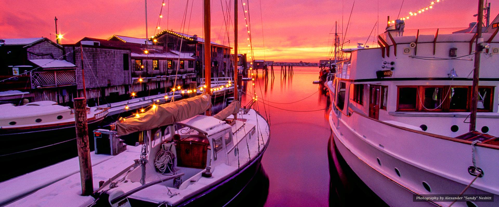 Winter slides and boats | Newport Inns of Rhode Island