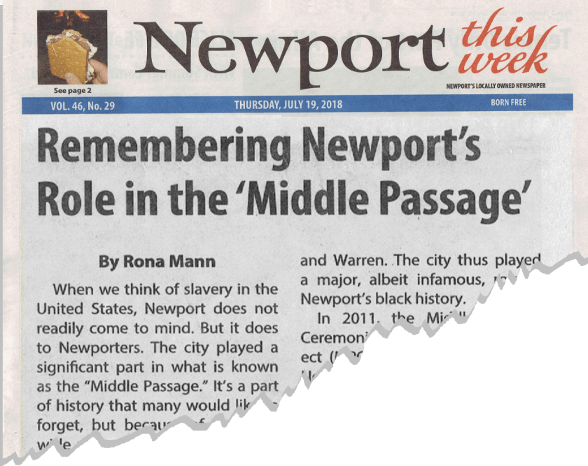 In the News - Newport Middle Passage